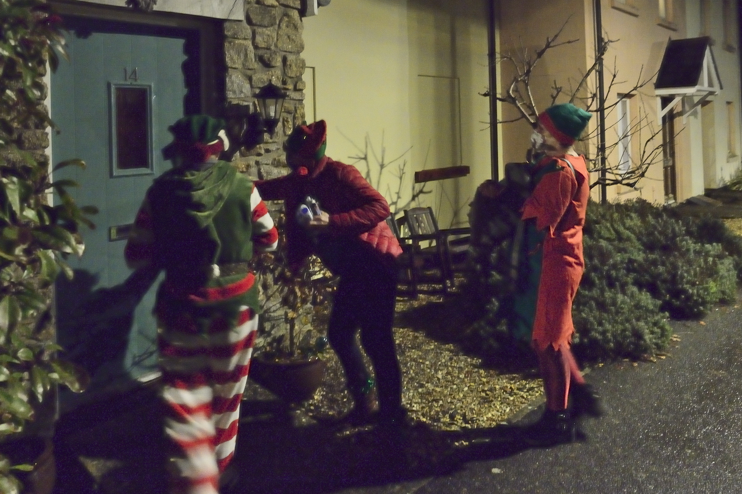 Elves knocking at door
