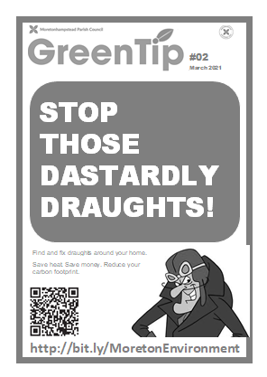 Stop those dastardly draughts poster