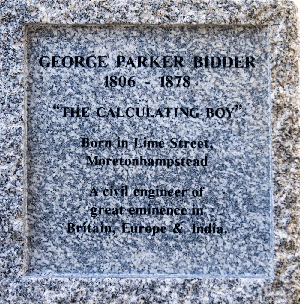 Close up of George Bidder information