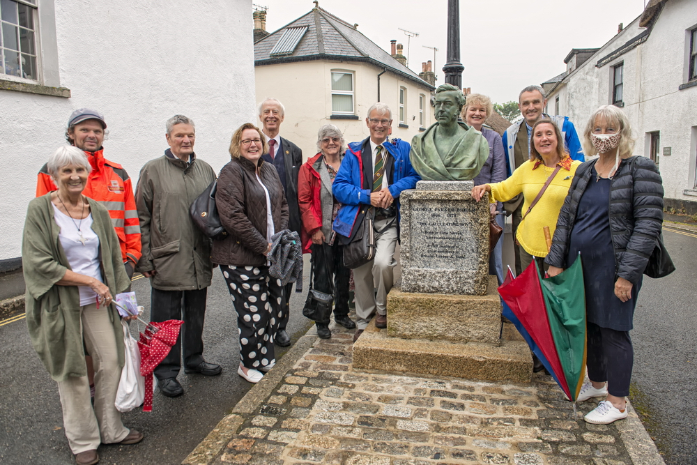 Family of George Bidder stood by the monument